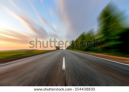 road under sunset sky