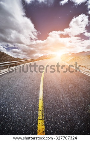 road up to success  - stock photo