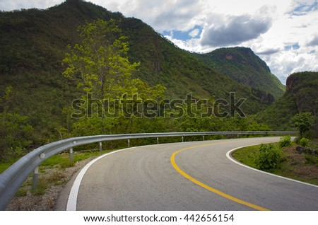 Road view in mountains