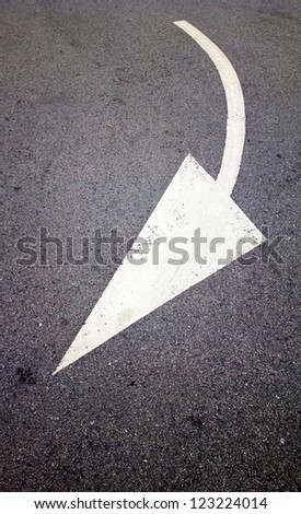 road with arrow direction - stock photo