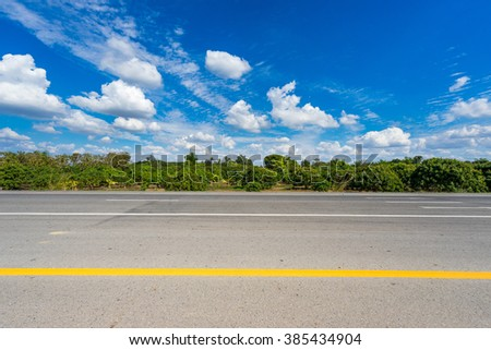 road with cloud - stock photo