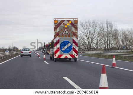 Road Works - stock photo