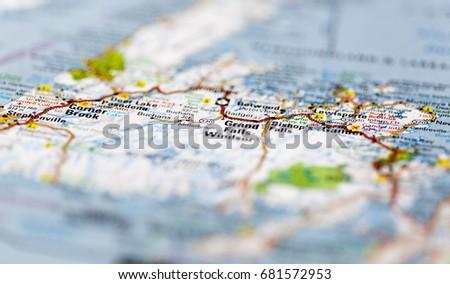 Roadmap Newfoundland Canada Stock Photo (Royalty Free) 681572953 ...