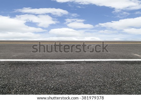Roads and  Sky background - stock photo