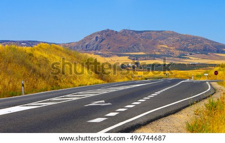 Roads in southern part of Andalusia, Spain.