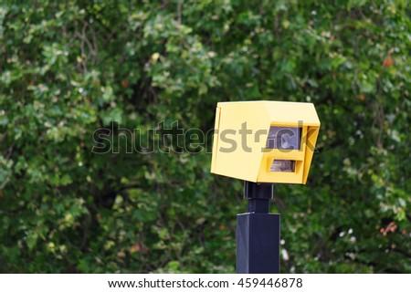 Roadside photo-enforced traffic camera in London - stock photo
