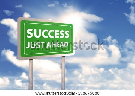 Roadsign of success. shoot outdoors - stock photo