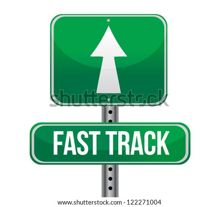 roadsign with a fast track concept illustration design - stock photo