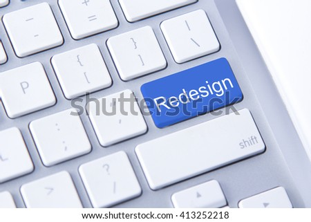 Roadsign word on blue keyboard button - stock photo
