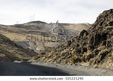 Roadstone Quarry, Nevada, USA - stock photo