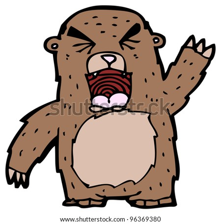 roaring bear cartoon