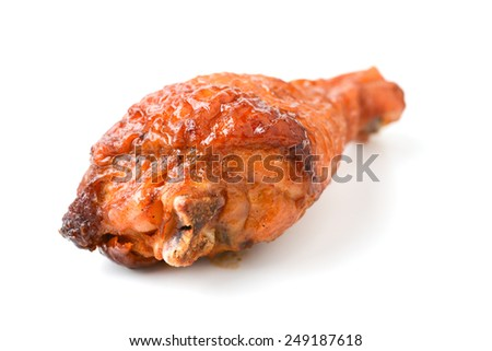 roast chicken drumstick - stock photo