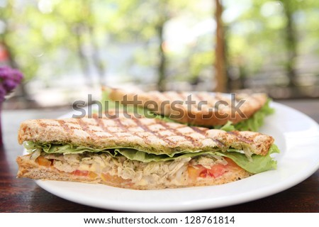 roast chicken sandwich - stock photo