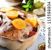 roast goose - stock photo