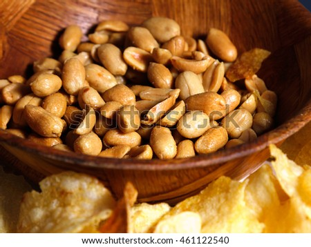 roasted and salted peanuts in a bowl