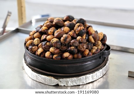 Roasted chestnuts in Istanbul
