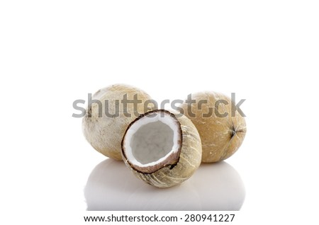Roasted coconut