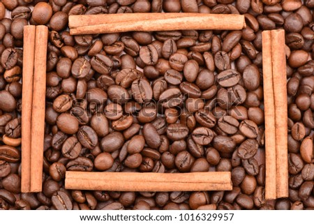 Roasted coffee beans, can be used as a background.