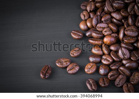 roasted coffee beans for background - stock photo