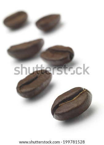 Roasted Coffee Beans isolated on a white background