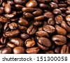 Roasted Coffee Macro Background - stock photo