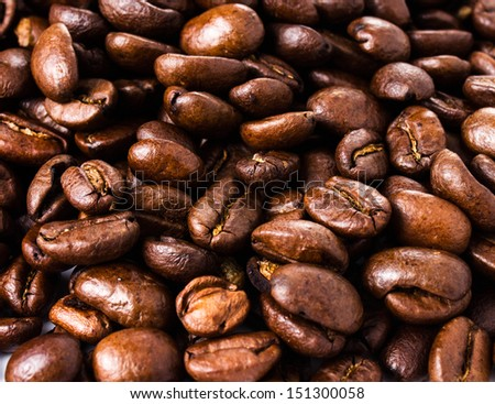 Roasted Coffee Macro Background - stock photo