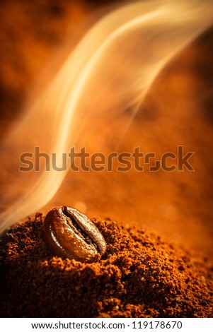 Roasted coffee smell good - stock photo
