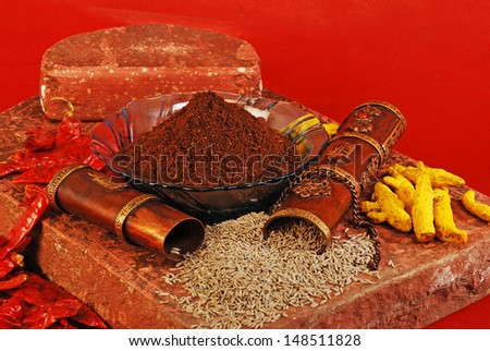 Roasted Cumin Powder or Jeera Powder, Indian Spices - stock photo