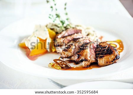 roasted duck - stock photo