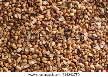 Roasted  peanuts   background