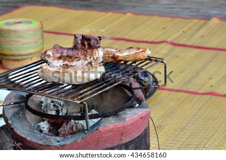 Roasted pork. Thailand rice Acquisitions - stock photo