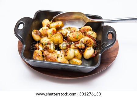 roasted potato ball - stock photo
