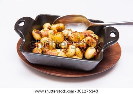 roasted potato ball - stock photo