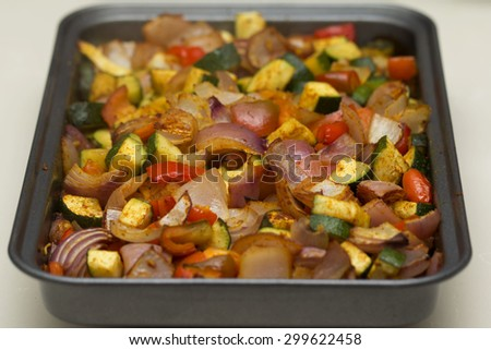 Roasted seasoned vegetables