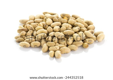 Roasted soybeans - stock photo