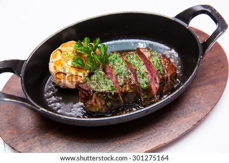 roasted steak - stock photo