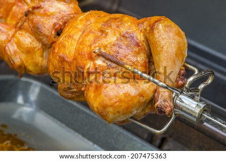 Roasting Chicken Over a Barbecue