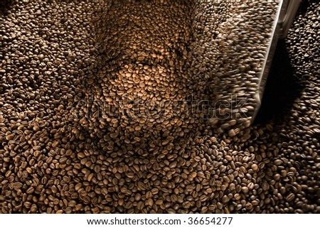 Roasting Coffee process