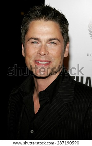 Rob Lowe at the Los Angeles premiere of 'Thank You For Smoking' held at the Directors Guild of America in Hollywood on March 16, 2006.
