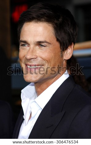 Rob Lowe at the Los Angeles premiere of 'The Invention of Lying' held at the Grauman's Chinese Theater in Hollywood, USA on September 21, 2009. - stock photo