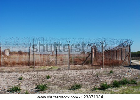 Robben Island Prison.Nobel Laureate and former President of South Africa Nelson Mandela was imprisoned on Robben Island for 18 of the 27 years he served behind bars before the fall of apartheid - stock photo
