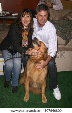 Robbi Morgan and Mark L. Walberg at the party to celebrate the 100th Episode of 'Dog Whisperer'. Boulevard 3, Hollywood, CA. 09-17-08 - stock photo