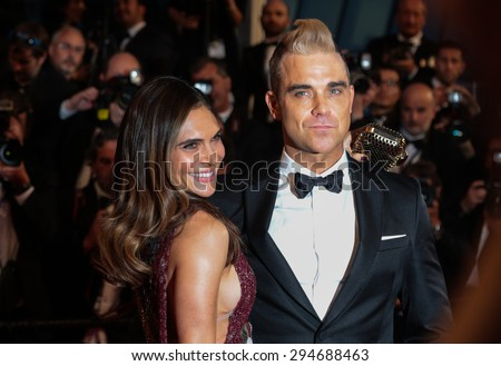 Robbie Williams and Ayda Field attend 'The Sea Of Trees' Premiere during the 68th annual Cannes Film Festival on May 17, 2015 in Cannes, France.