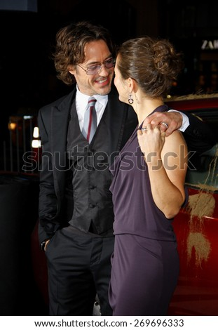 Robert Downey Jr and Susan Downey at the Los Angeles premiere of 'Due Date' held at the Grauman's Chinese Theatre in Hollywood on Ocotober 28, 2010.