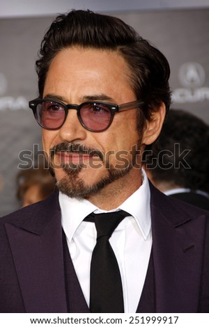 "Robert Downey Jr.  at the Los Angeles Premiere of ""Marvel's The Avengers"" held at the El Capitan Theater, California, United States on April 11, 2012."