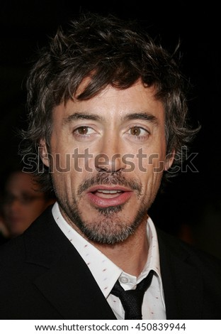 Robert Downey Jr. at the Los Angeles premiere of 'Zodiac' held at the Paramount Pictures Studios in Hollywood, USA on March 1, 2007.