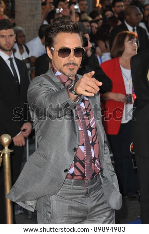 "Robert Downey Jr. at the premiere of ""Captain America: The First Avenger"" at the El Capitan Theatre, Hollywood. July 19, 2011  Los Angeles, CA Picture: Paul Smith / Featureflash"
