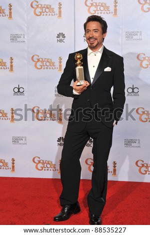 Robert Downey Jr at the 67th Golden Globe Awards at the Beverly Hilton Hotel. January 17, 2010  Beverly Hills, CA Picture: Paul Smith / Featureflash - stock photo
