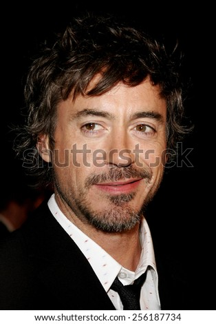 """Robert Downey Jr. attends the Los Angeles Premiere of """"Zodiac"""" held at the Paramount Pictures Studios in Hollywood, California on March 1, 2007.  - stock photo"""