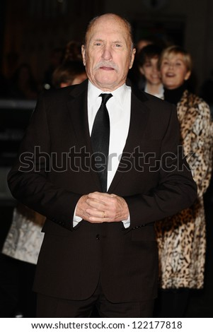 "Robert Duvall arrives for the ""Jack Reacher"" premiere at the Odeon Leicester Square, London. 10/12/2012 Picture by: Steve Vas"